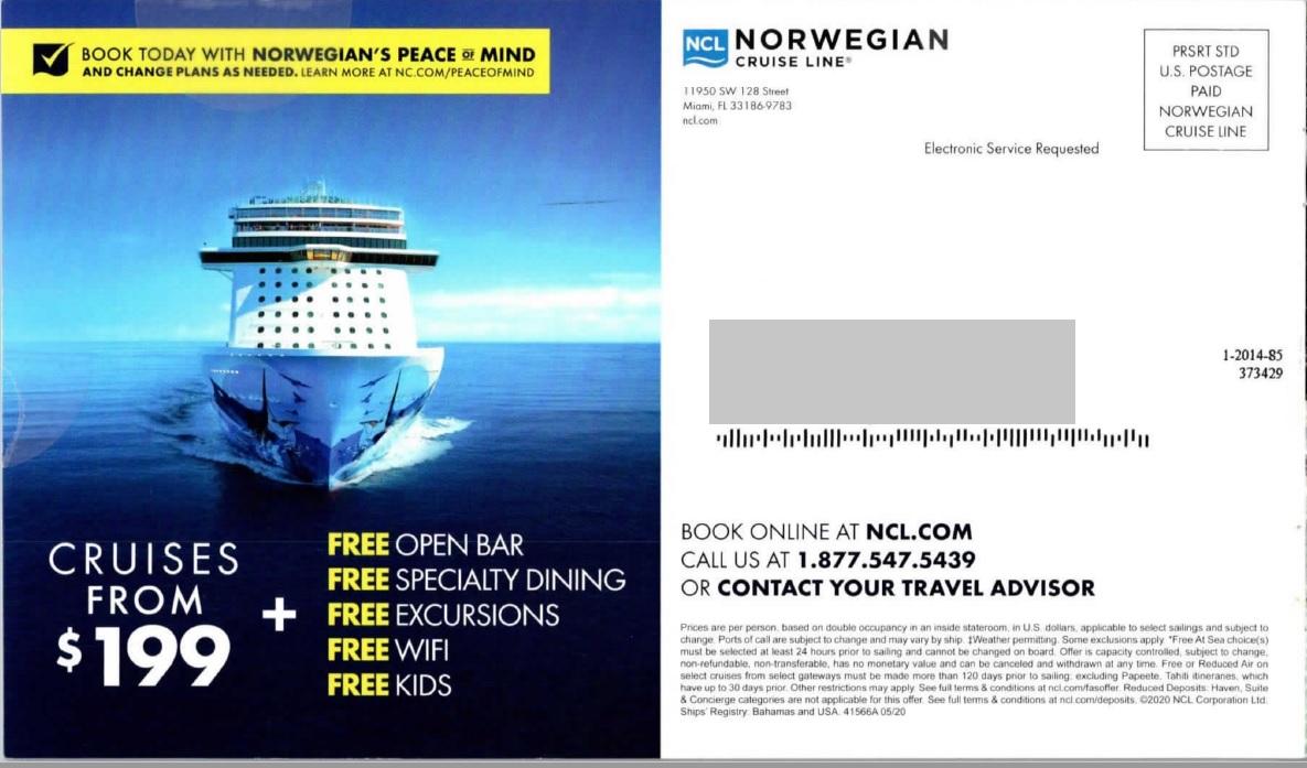 norwegian cruise line aida formula for effective direct mail copy
