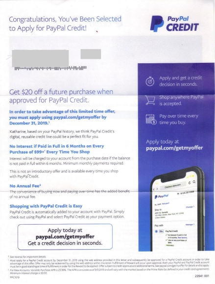 paypal direct mail