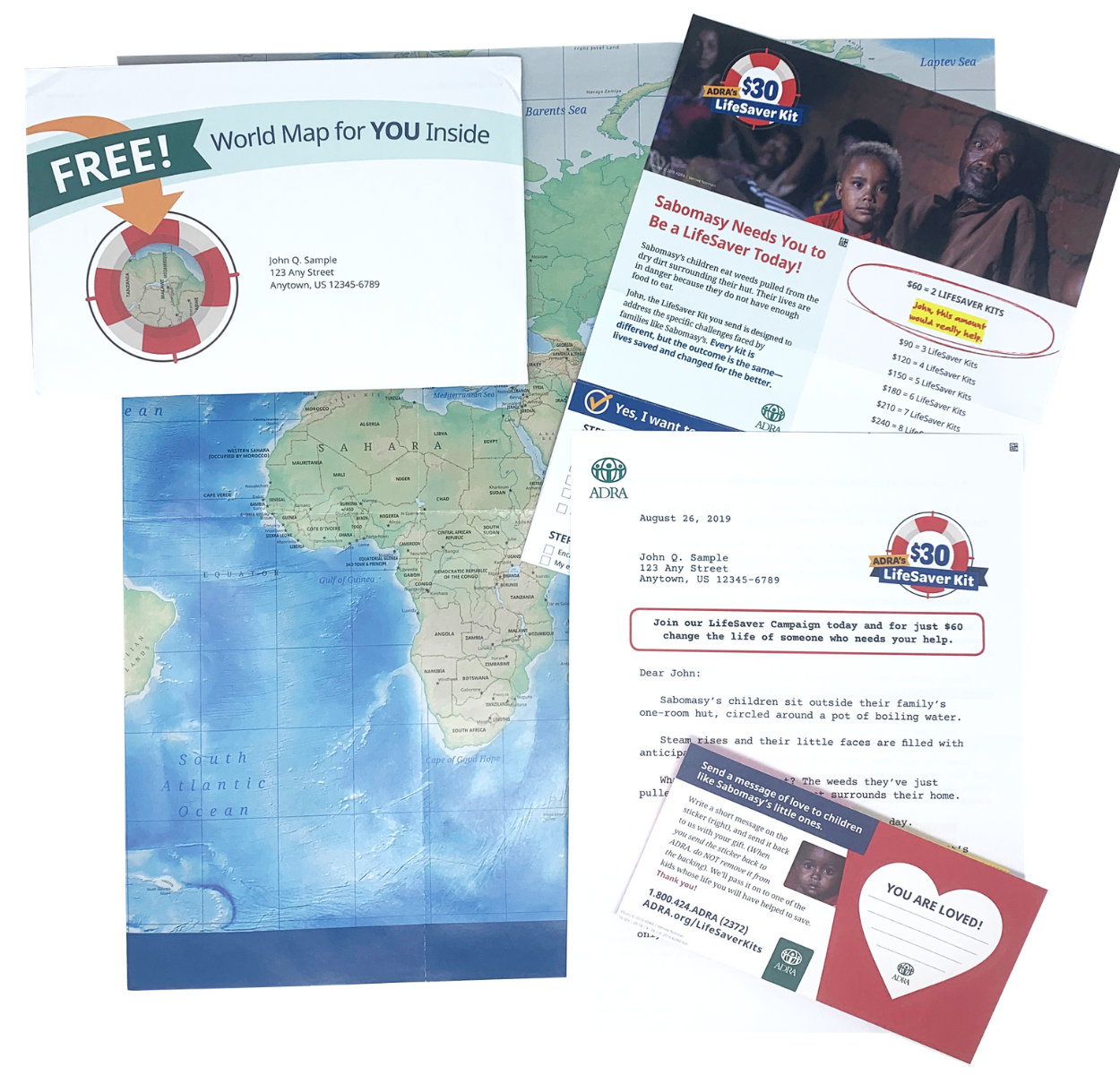 LifeSaver Campaign ADRA direct mail nonprofit