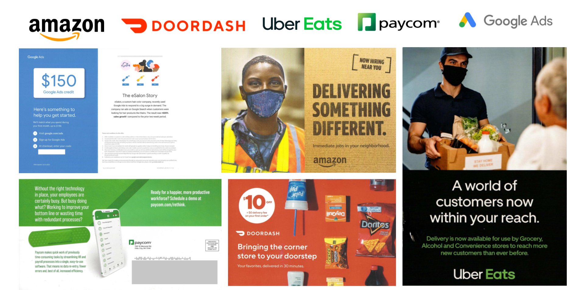 digital industry leaders using direct mail