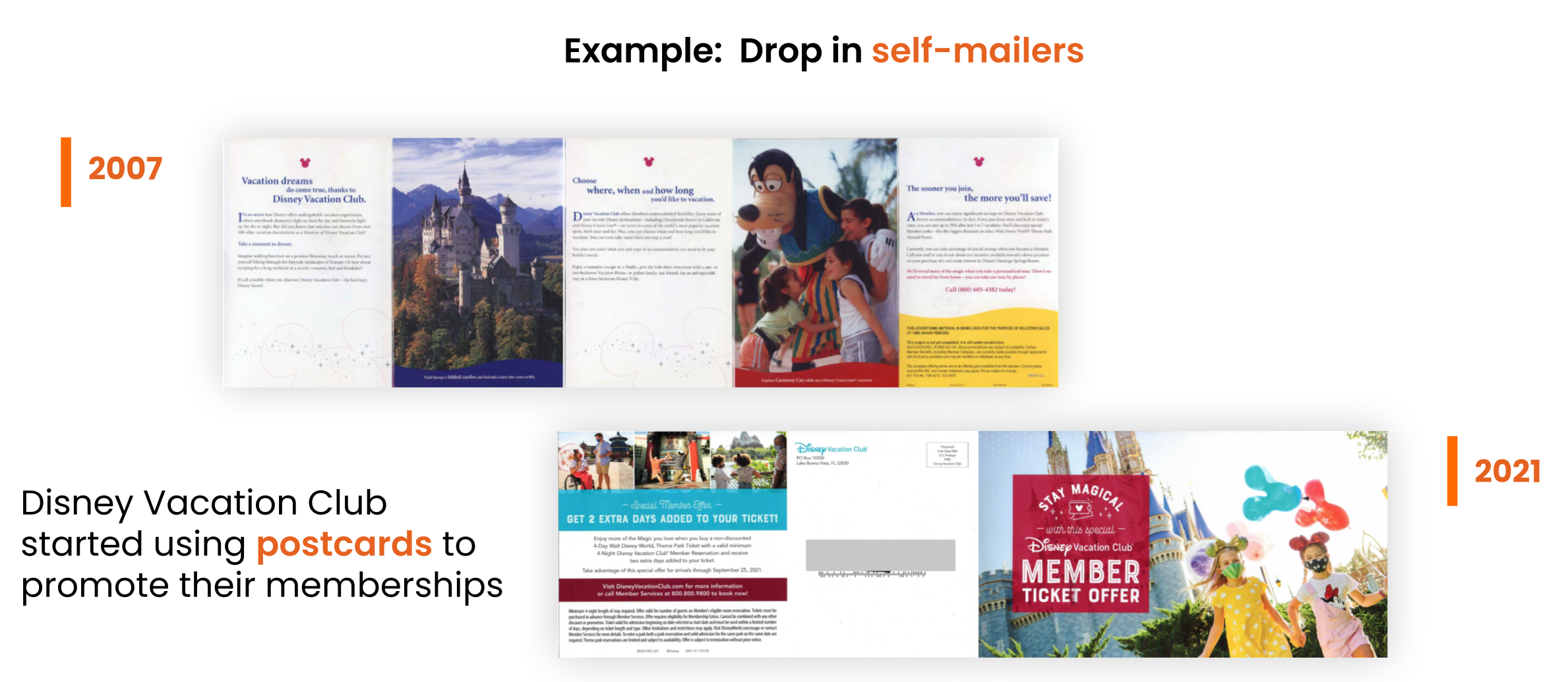 drop in self mailers