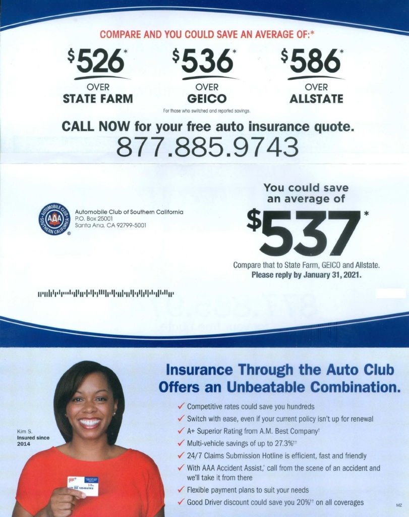 Automobile Club of Southern California direct mail