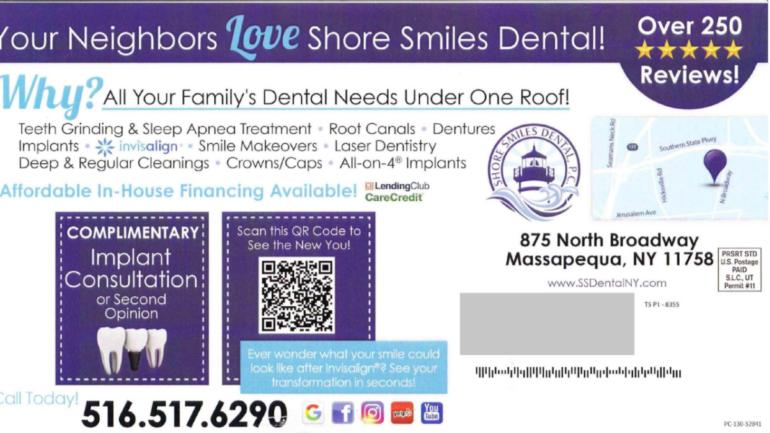 SHORE SMILES DENTAL postcard