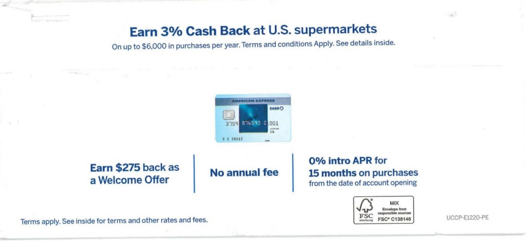 American Express eco friendly direct mail