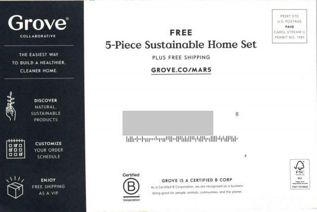 Grove Collaborative eco friendly mail