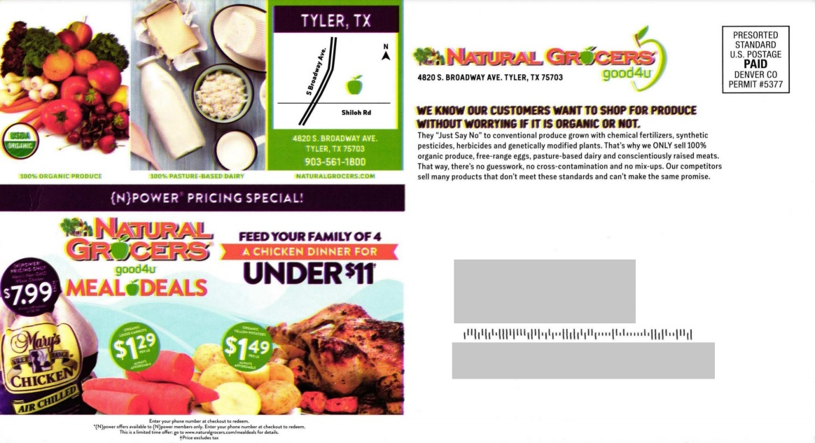 Natural Grocers direct mail