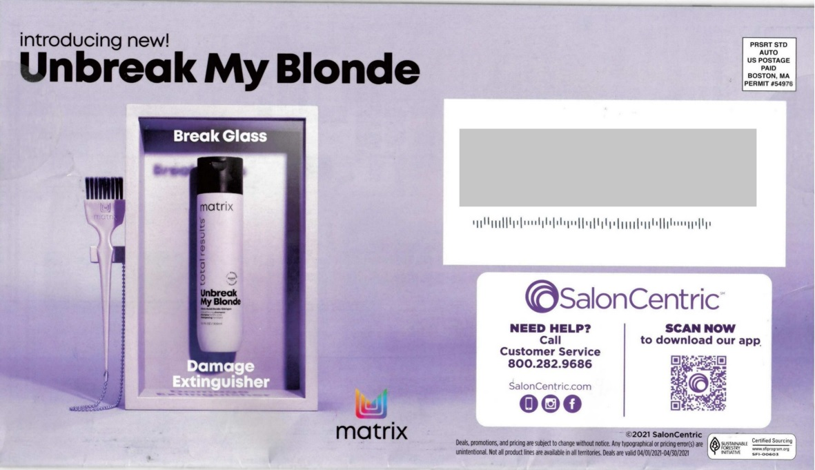 SalonCentric direct mail