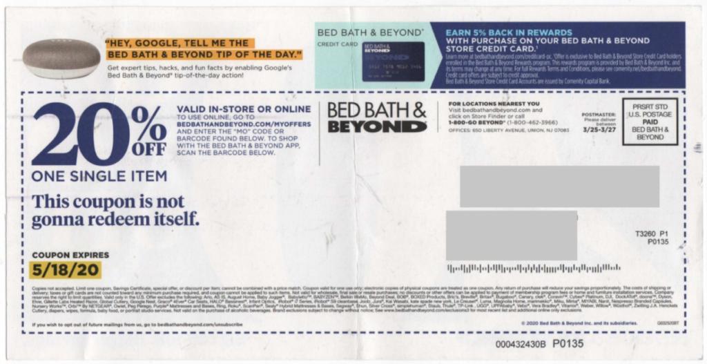 bed bath& beyond coupon
