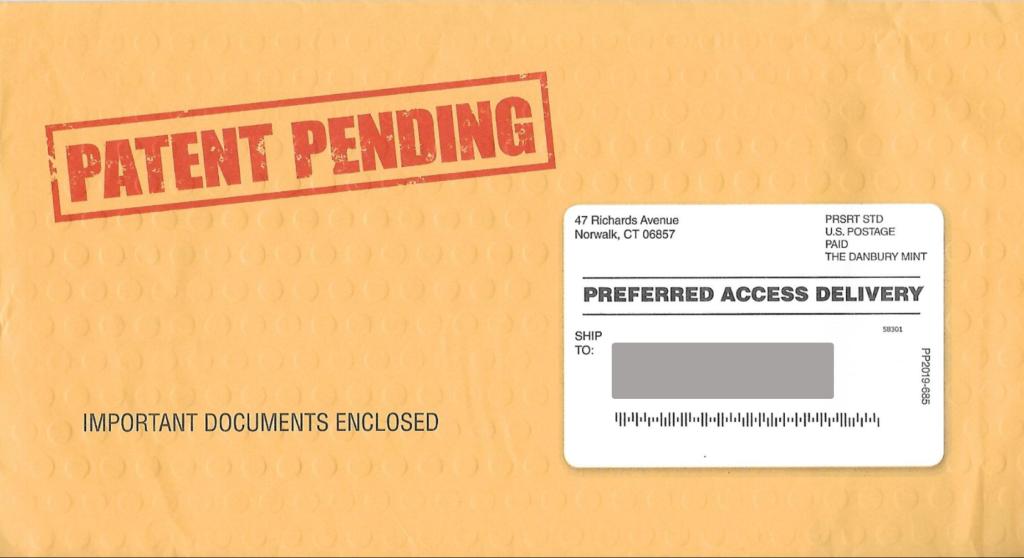 textured envelope