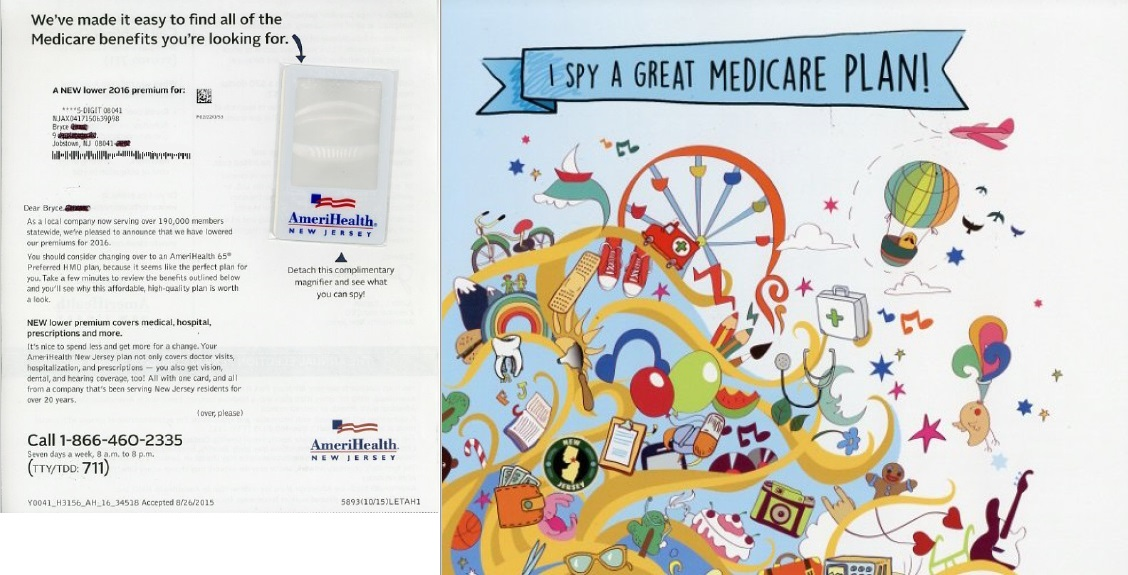 Amerihealth New Jersey direct mail