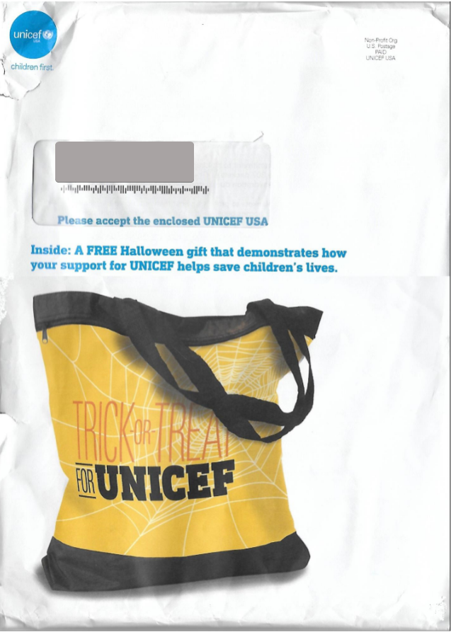 UNICEF direct mail