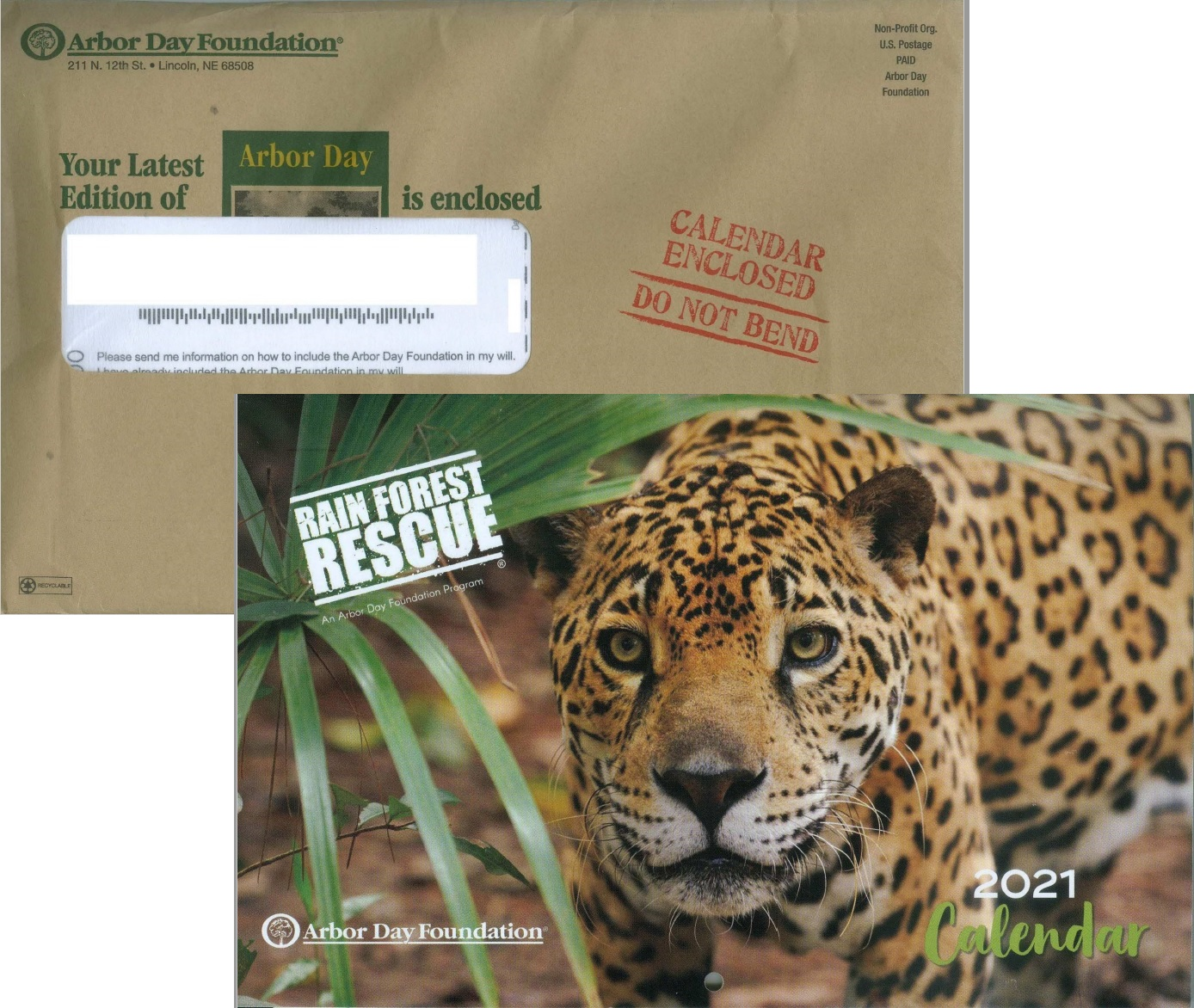 Arbor Day Foundation direct mail