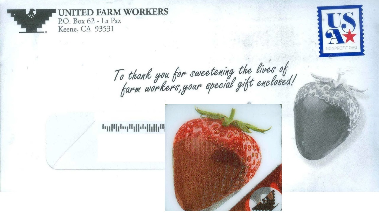 United Farm Workers direct mail