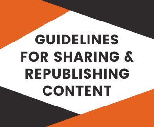 guidelines for sharing and republishing content