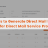 9 Ways to Generate Direct Mail Leads