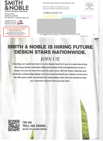Smith & Noble direct mail