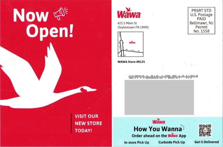 Wawa direct mail postcard
