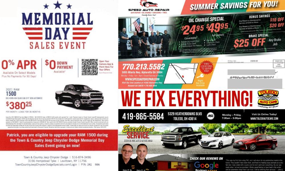 Automotive Direct Mail ideas