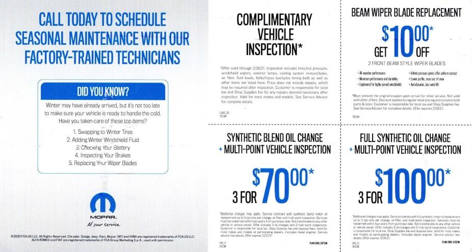 Mopar automotive direct mail