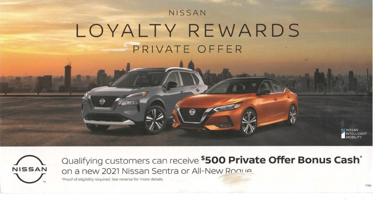 Nissan automotive direct mail