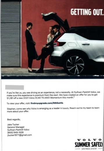 Volvo automotive direct mail