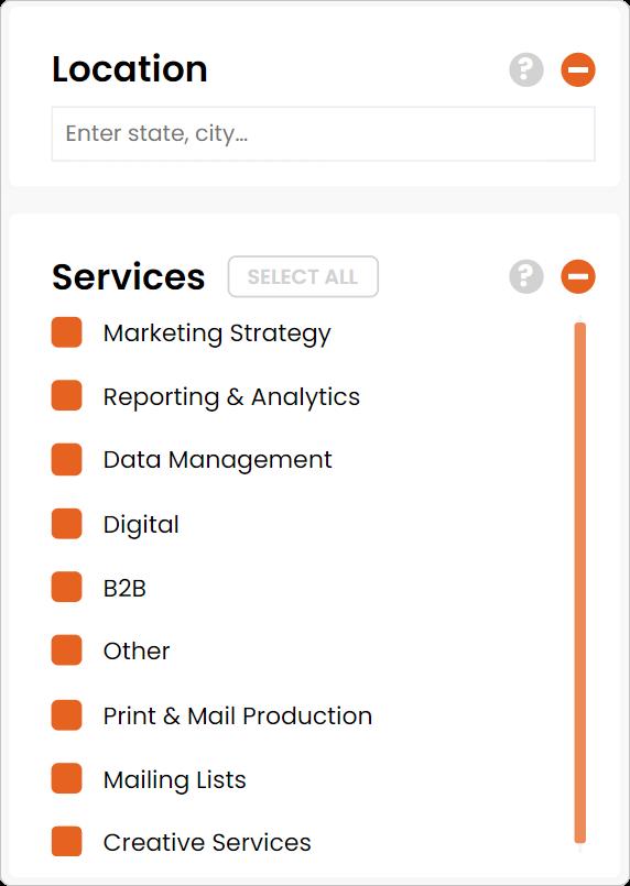 dm services tab filter